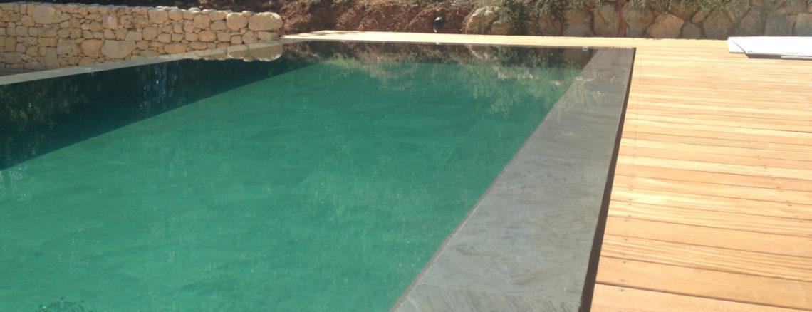 Terrasse teck piscine Île d'Aix