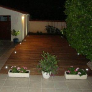terrasse teck Fouras de nuit