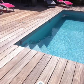 terrasse vissée teck La Rochelle